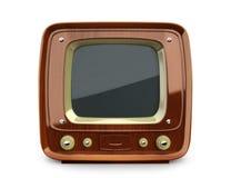 Retro TV di legno Fotografia Stock