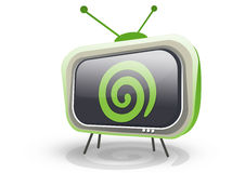 Retro tv with dreamstime logo Stock Photos