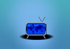 Retro TV with Earth Royalty Free Stock Photography