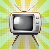 Retro tv on funky background Stock Image