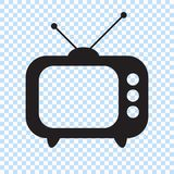 Retro TV icon in flat style, black and white retro TV icon, Vector illustration of Retro TV icon for you design. vector illustration