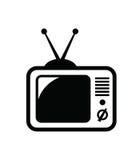 Retro tv icon Royalty Free Stock Photography