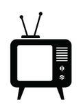 Retro tv icon Stock Photo