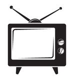 Retro tv icon Royalty Free Stock Image