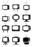 Retro TV Icons Stock Photos