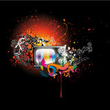 Retro tv illustration Stock Photography