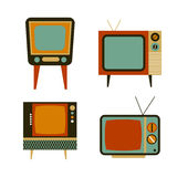 Retro tv items set Royalty Free Stock Images