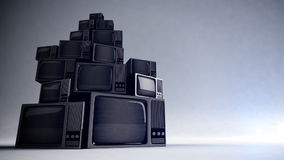 Retro TV med statisk elektricitet