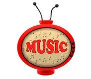 Retro TV met inschrijvingsmuziek Royalty-vrije Stock Afbeeldingen