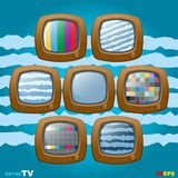 Retro TV mini set icon Stock Photos