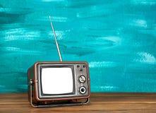 Retro TV på bakgrund Arkivfoton