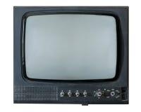 Retro TV på en vit bakgrund Arkivbild