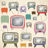 Retro TV pattern Royalty Free Stock Image