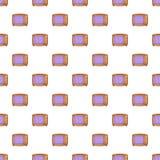 Retro TV pattern, cartoon style Royalty Free Stock Photo
