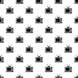 Retro TV pattern, simple style Stock Images