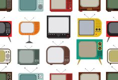 Retro tv pattern Stock Photo