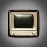 Retro TV / radio on a gray background Stock Photo