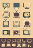 Retro tv receiver vector - Illustration Royalty Free Stock Photography