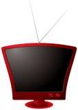 Retro TV rossa Fotografie Stock