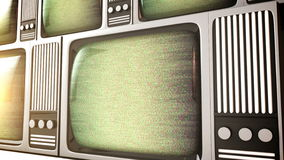 Retro tv screens with static. stock footage