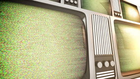 Retro tv screens with static. stock video