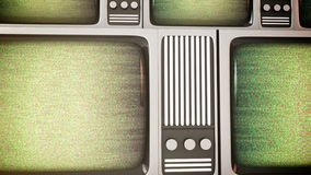 Retro tv screens with static. stock video footage