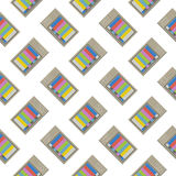 Retro tv seamless pattern. Colorful abstract vector background. Royalty Free Stock Photo