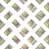 Retro tv seamless pattern. Colorful abstract vector background. Royalty Free Stock Photography