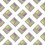 Retro tv seamless pattern. Colorful abstract vector background. Stock Photo