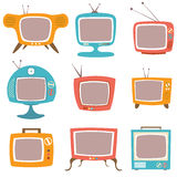Retro TV Set Stock Images