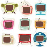 Retro TV Set. Old TV with noise on screen. Retro Television concept Stock Image