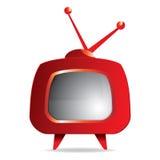 Retro TV set. Vector illustration of Stylized red retro TV Royalty Free Stock Photo