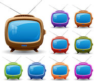 Retro tv set. Royalty Free Stock Photos