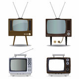 Retro TV set Stock Photos