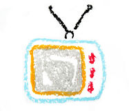 Retro tv set Stock Image