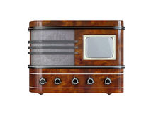 Retro TV Set. Vintage TV Set on white background. 3D image royalty free illustration