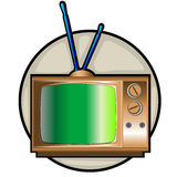 Retro tv set clip art Stock Image