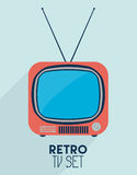 Retro TV set Stock Photos