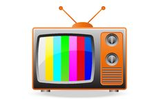 Retro TV Set Icon Royalty Free Stock Photo