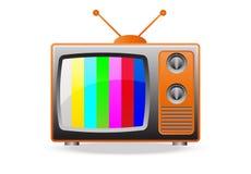 Retro TV Set Icon Royalty Free Stock Photo