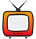 Retro TV-set illustration. TV. Simple  illustration isolated on white backround Royalty Free Stock Photos