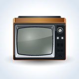 Retro TV set illustration Stock Image
