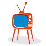 Retro TV set. Royalty Free Stock Photography