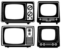 Retro tv sets Stock Image