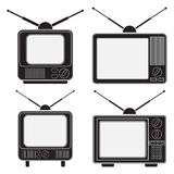 Retro TV sets collection Stock Images