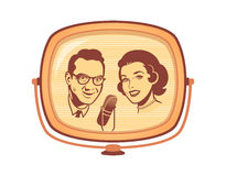 Retro TV show Royalty Free Stock Photo