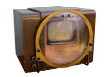 Retro tv of soviet-made sample of 1958. Isolated on white background Royalty Free Stock Images