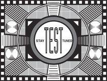 Retro TV Test Pattern Stock Photo