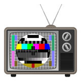 Retro TV with Test Screen Royalty Free Stock Photography