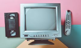 Retro tv top view. Retro tv top view royalty free stock image